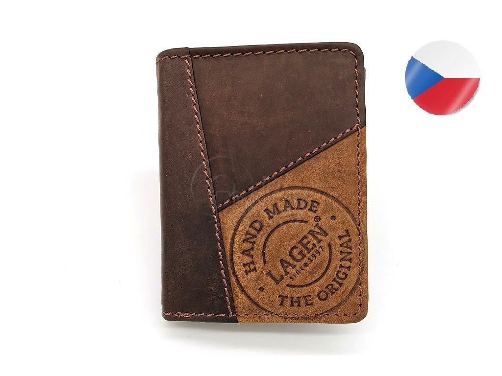 Pánská kožená peněženka LAGEN, Thor - tmavě hnědá