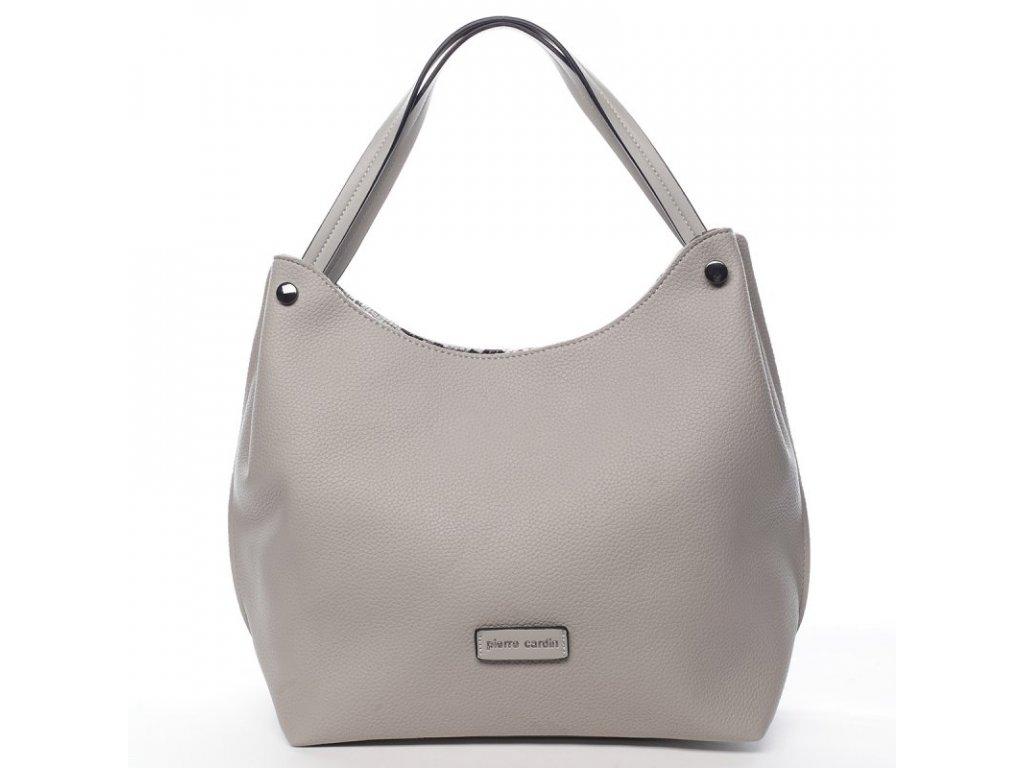 Šedá módní dámská značková kabelka Nina, PIERRE CARDIN