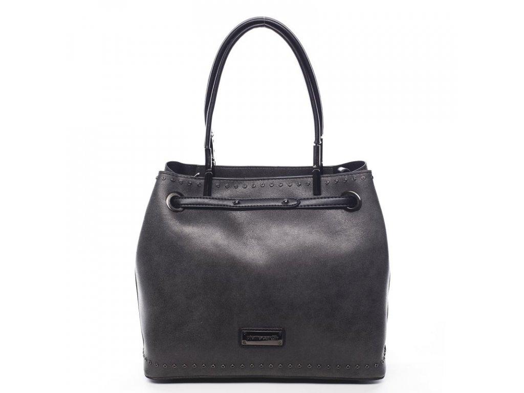 SET Antracit dámská kabelka Bernard + malá kabelka, PIERRE CARDIN