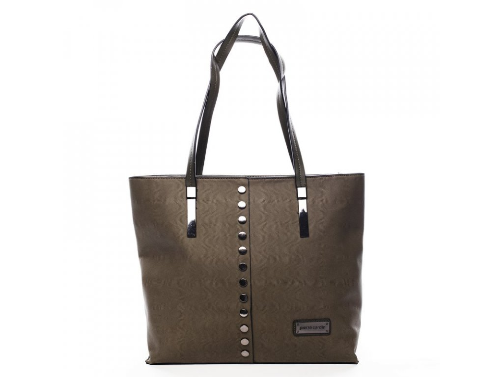 Dámská kabelka PIERRE CARDIN Roseline - hnědo/zelená