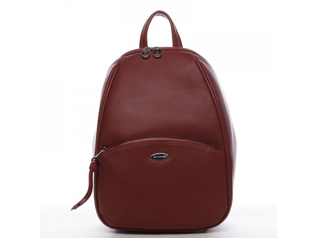 Červený trendy dámský batoh Sanja, DAVID JONES