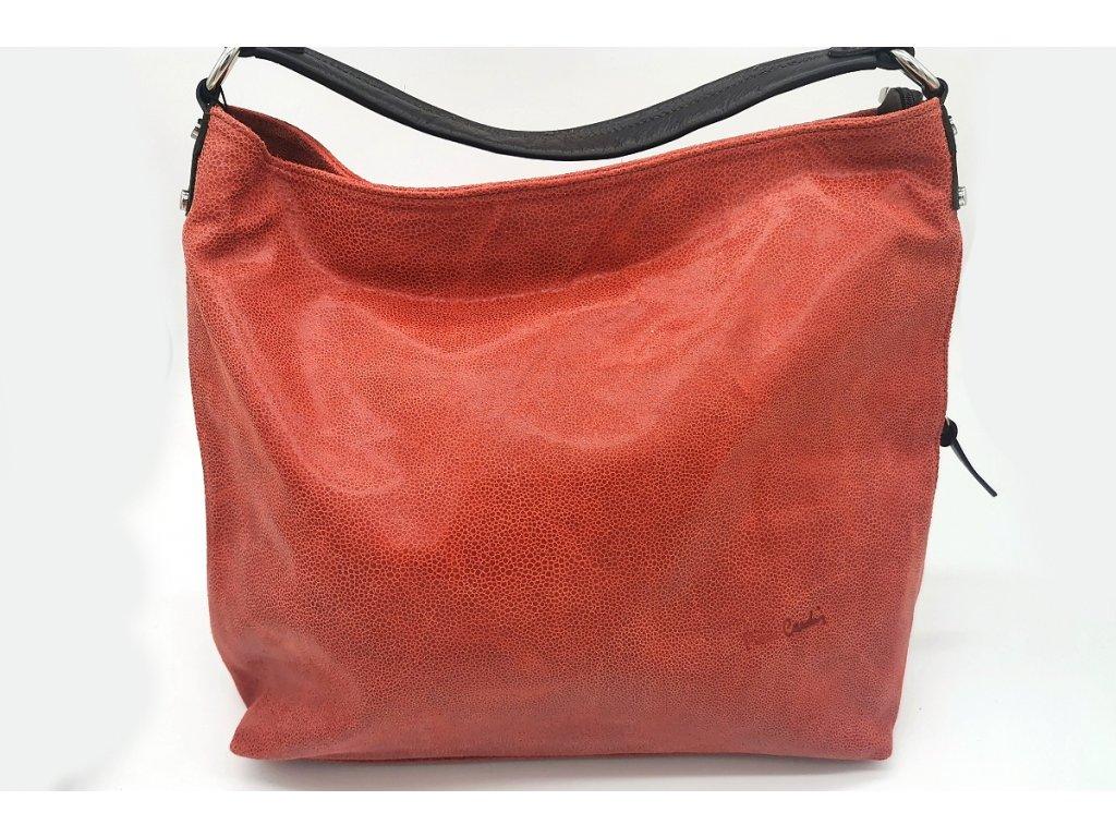 Dámská kožená kabelka PIERRE CARDIN, Beam - červená