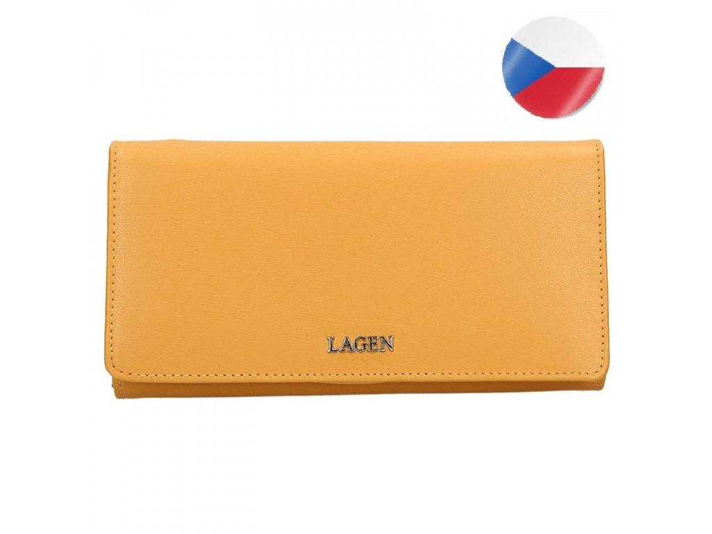 Dámská kožená peněženka LAGEN Dita - žlutá