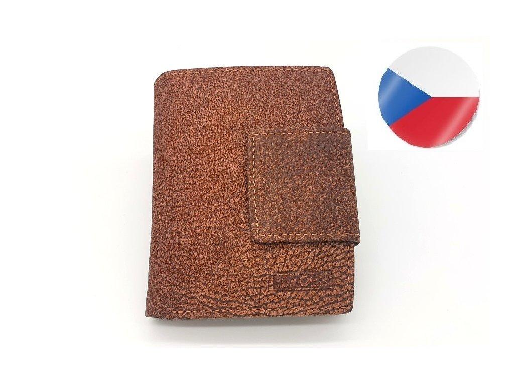 Kožená peněženka LAGEN Karla - světle hnědá