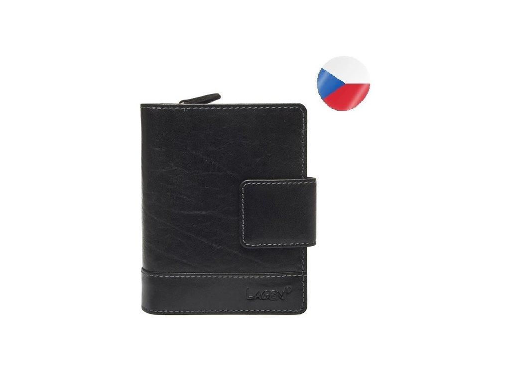 peněženka ERIKA černá kůže LAGEN (1)