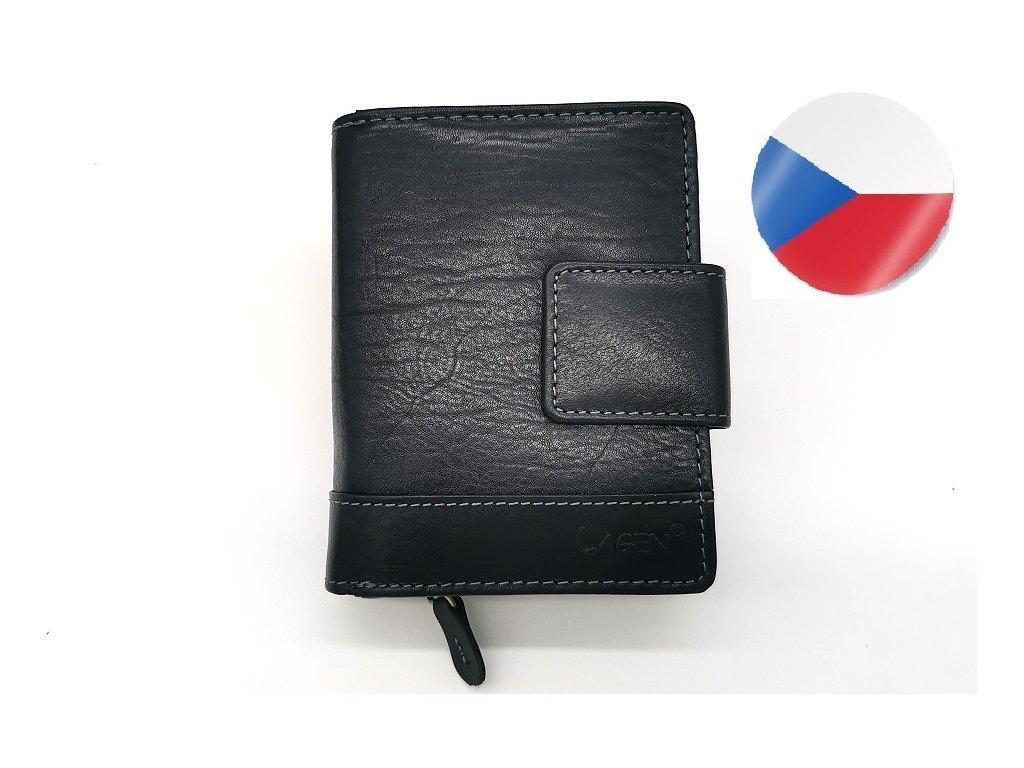 Dámská kožená peněženka LAGEN Erika - černá