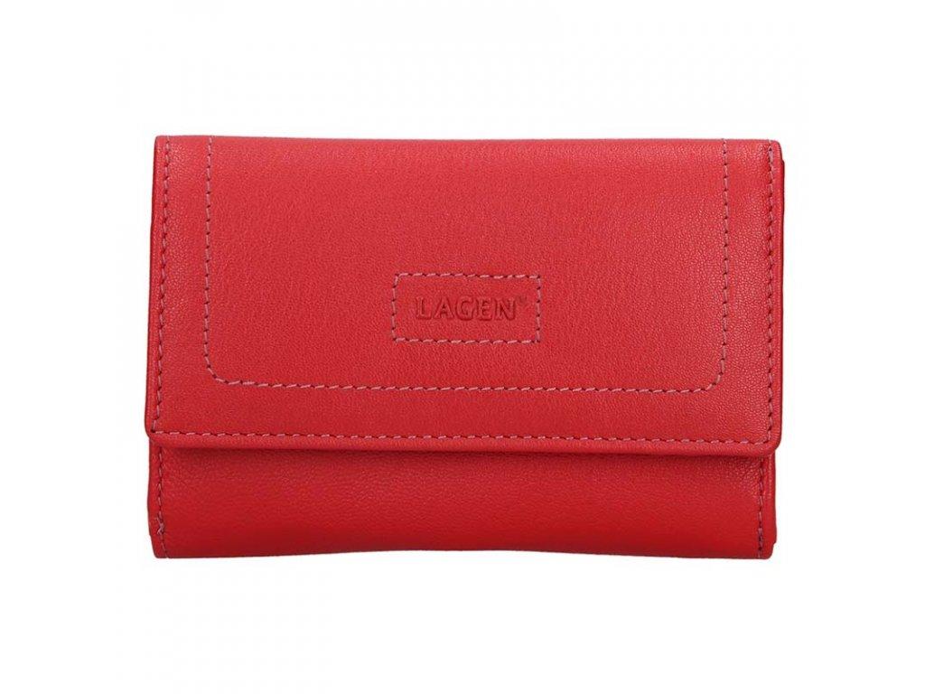 Dámská kožená peněženka LAGEN Debora - červená