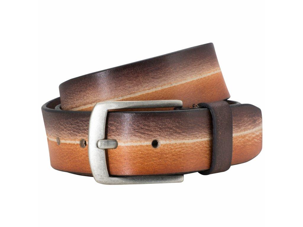 Pánský kožený pásek LINDENMANN Hans - hnědý