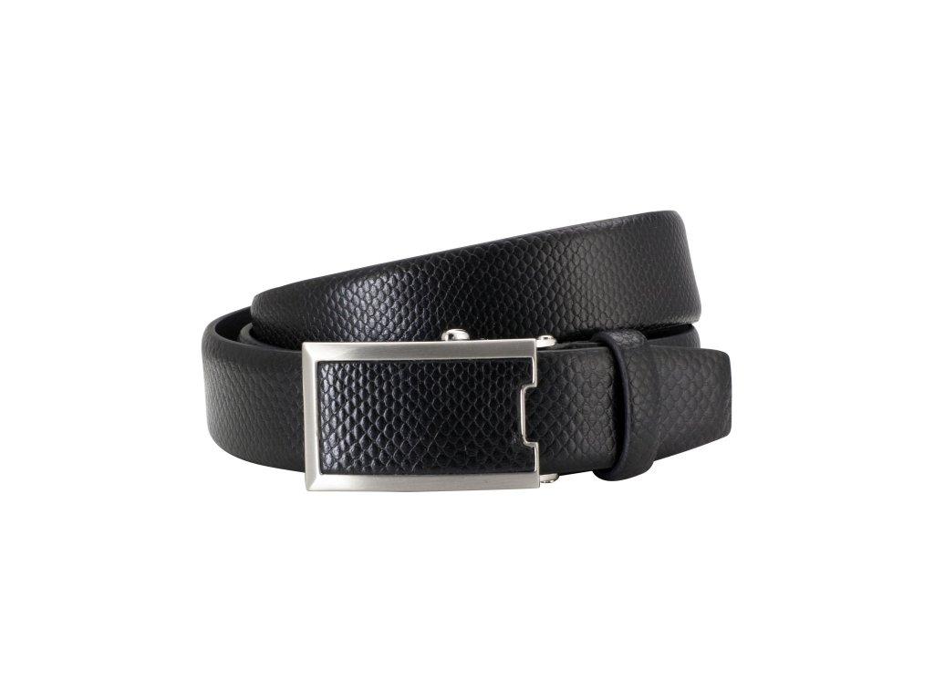 Pánský automatický kožený pásek LINDENMANN Max - černý