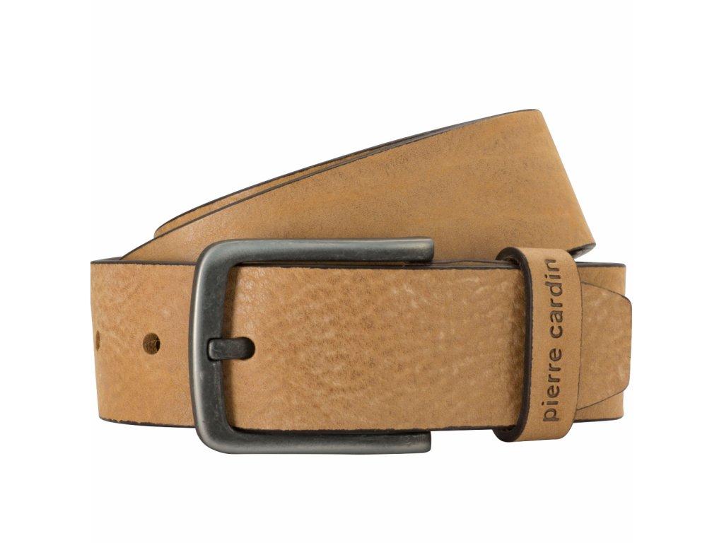 Pánský kožený pásek PIERRE CARDIN Philip - světle hnědý