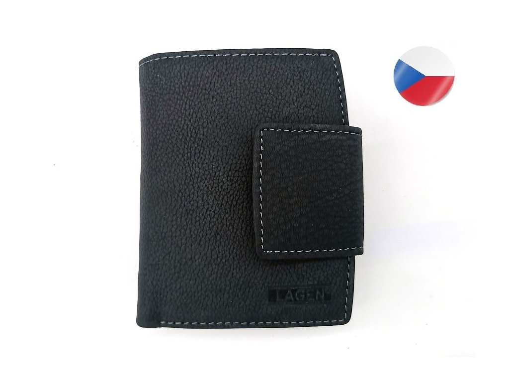 Kožená peněženka LAGEN Karla - černá
