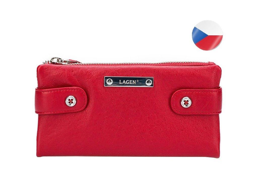 Dámská kožená peněženka LAGEN Elsie - červená