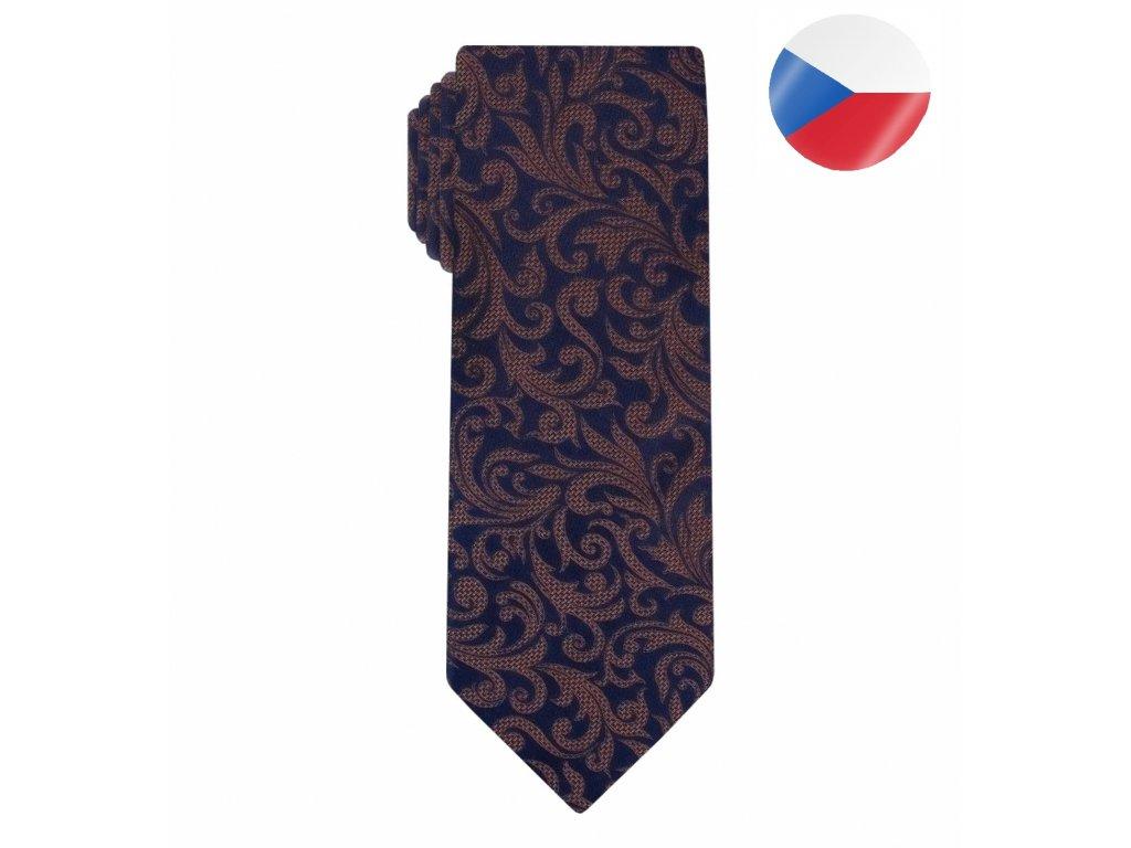 kravata monsi noble brn blue (8)