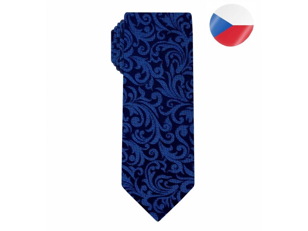 hedvabna kravata monsi noble blue (5)