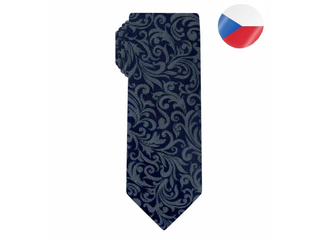 panska kravata monsi noble seda modra (3)