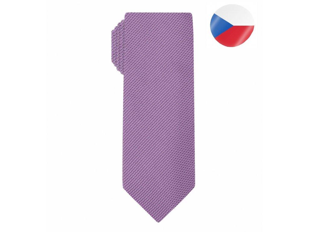 panska hedvabna kravata grenadine pink (1)