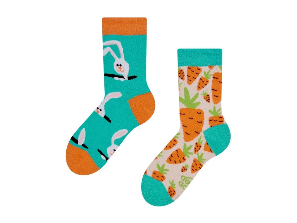 Dětské ponožky Zajíc a mrkev (1)