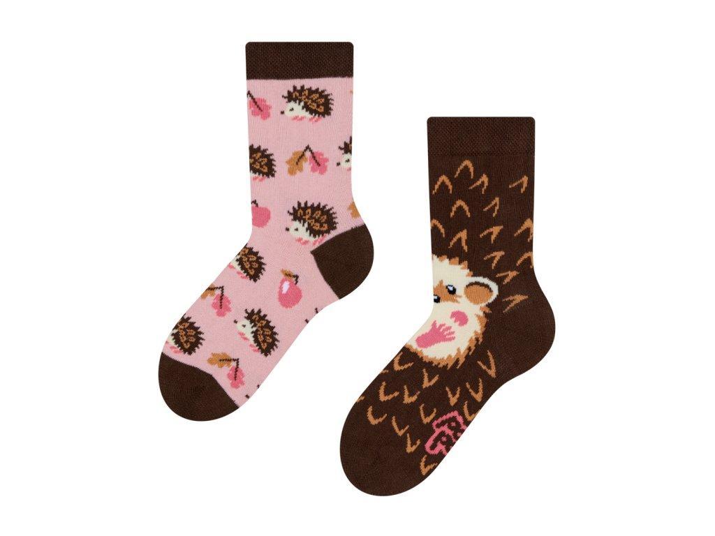 dětské veselé ponožky ježek (1)