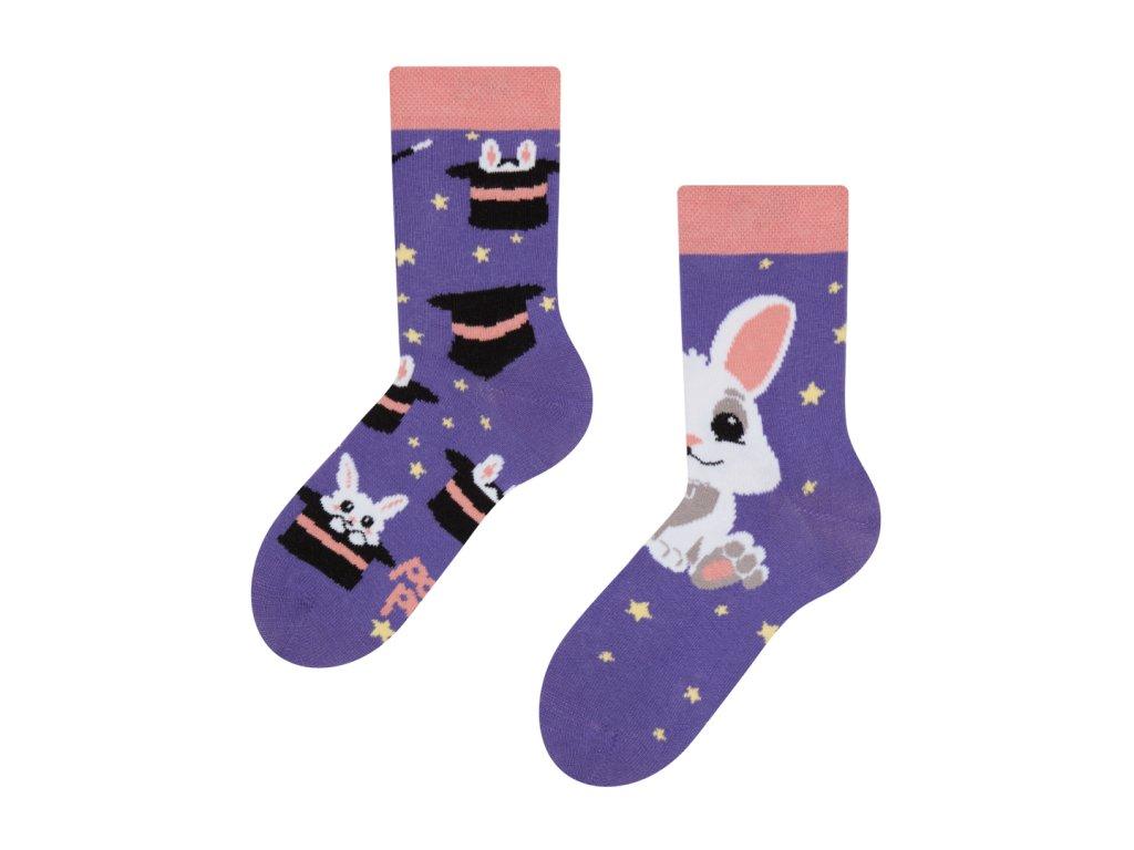 dětské veselé ponožky kouzelný králíček (1)