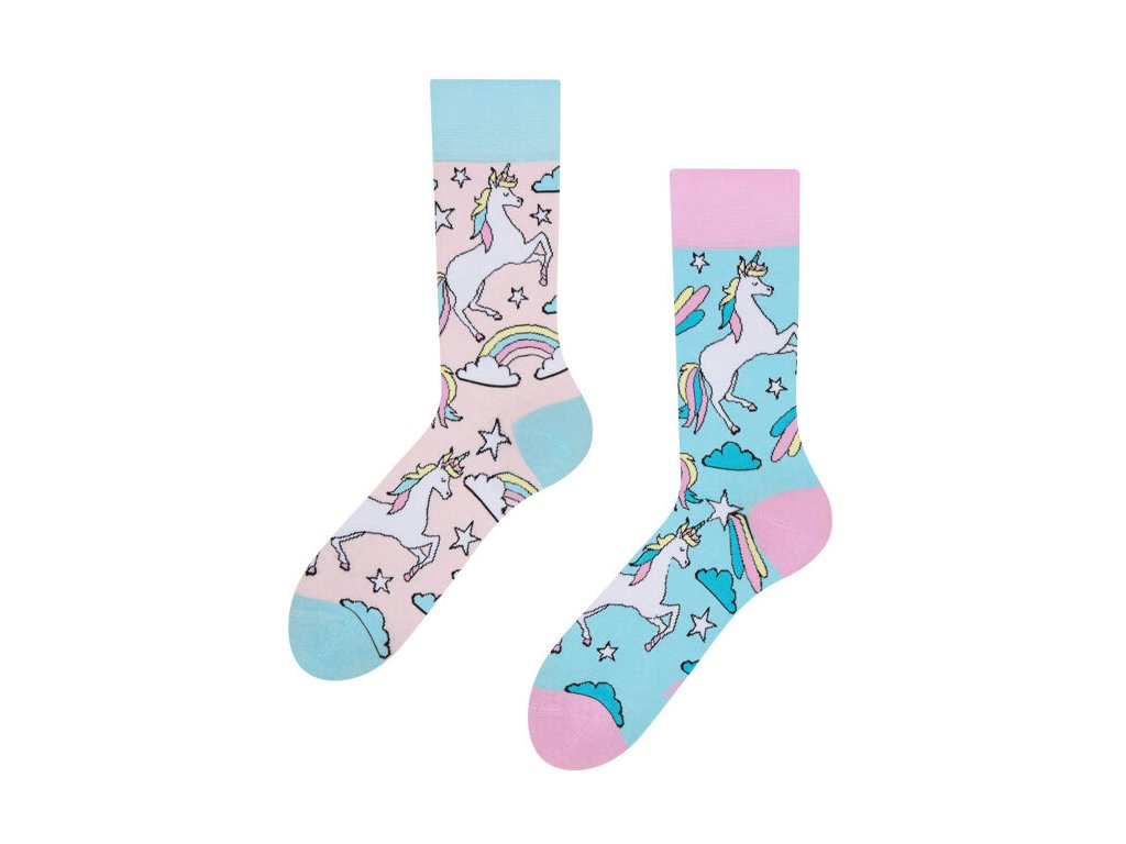 veselé ponožky Duhový jednorožec (4)