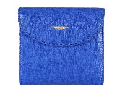 GIUDI dámská modrá kožená peněženka 6470/TRP/CRF, GIUDI