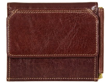 hnědá kožená peněženka - dolarka 6366, GIUDI
