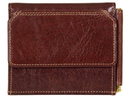 Luxusní pánská kožená peněženka s klipem na bankovky - dolarka italské značky GIUDI