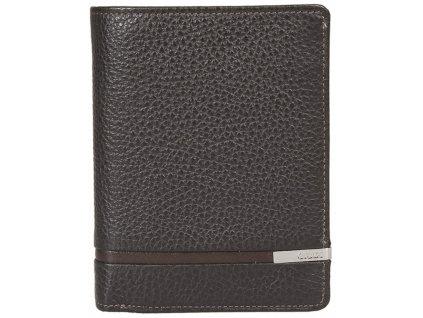 Pánská hnědá kožená peněženka 7364, GIUDI