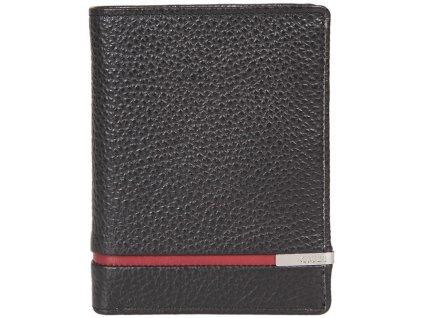 pánská černočervená kožená peněženka 7364, GIUDI