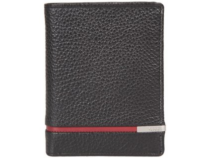 Pánská kožená peněženka GIUDI Aaron - černá/červená