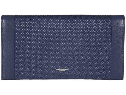 Luxusní modrá pánská kožená peněženka - dokladovka italské značky GIUDI