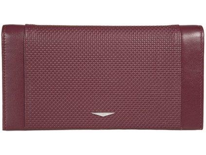 Luxusní šervená pánská kožená peněženka - dokladovka italské značky GIUDI
