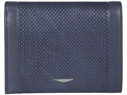 Luxusní modrá pánská kožená peněženka italské značky GIUDI