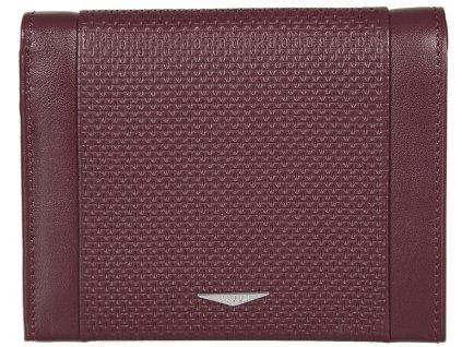 Luxusní červená pánská kožená peněženka italské značky GIUDI