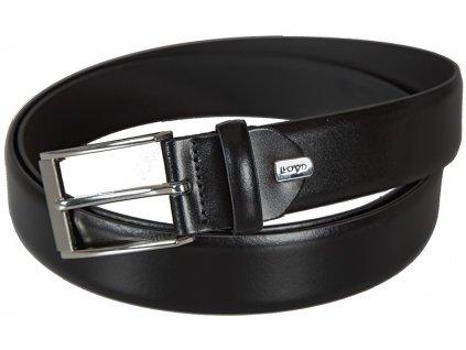 Pánský černý kožený pásek 1317, LLOYD