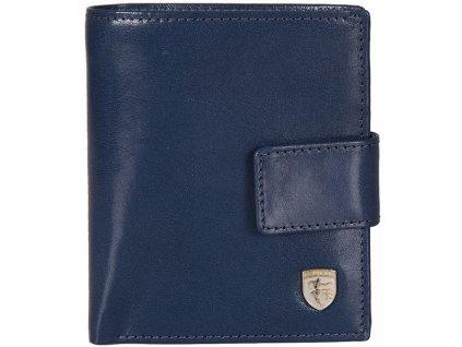 Luxusní dámská kožená peněženka z hladké modré kůže značky FRANCO BELLUCCI
