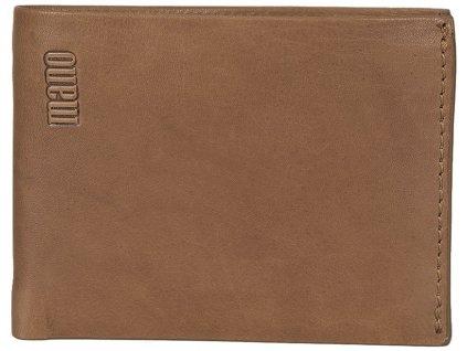 Pánská kožená peněženka 2v1 MANO Stefan - hnědá