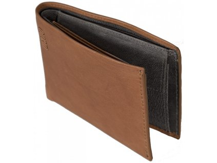pánská hnědá koňak kožená peněženka MANO 20301
