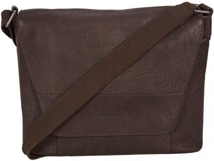 """Kožená hnědá taška na 15"""" notebook německé značky BRUNO BANANI."""