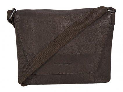 """hnědá kožená taška na 13"""" notebook  320/2396, BRUNO BANANI"""