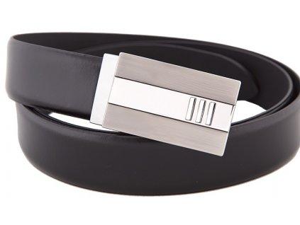 Pánský černý luxusní pásek do obleku Lloyd