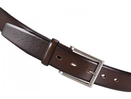 Lloyd pánský tmavě hnědý kožený pásek 1080, Lloyd