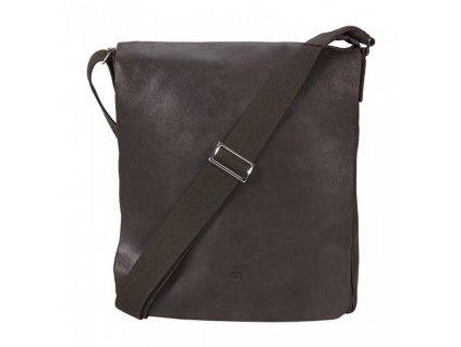 hnědá kožená taška přes rameno,  JAZZY SMASH 71, DAAG