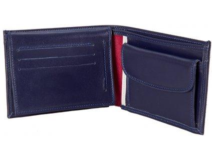 pánská tmavě modrá kožená peněženka 31096, MONARCHY