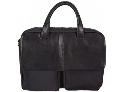 """Černá taška z umělé kůže na 17"""" notebook 513301, d&n lederwaren"""