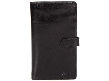 velká černá kožená peněženka 6872, GIUDI