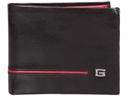 pánská černočervená kožená peněženka 6954, GIUDI