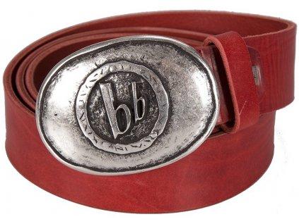 Luxusní červený kožený pásek BRUNO BANANI