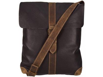 hnědá kožená taška přes rameno 779/S, MONARCHY