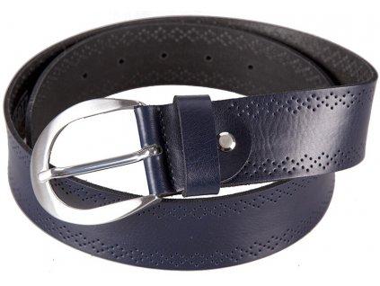 Modrý kožený pásek 402560, BERND GÖTZ